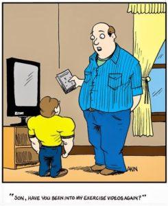 отец и сын из разряда смешной фитнес