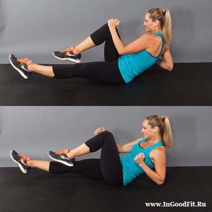 упражнение для сжигания жира внизу живота