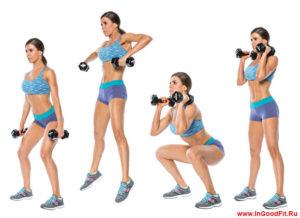 Гири и гантели при занятиях фитнесом