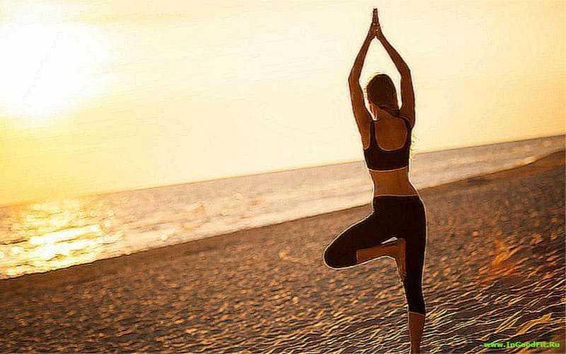 Утренний комплекс йоги. Поза дерева
