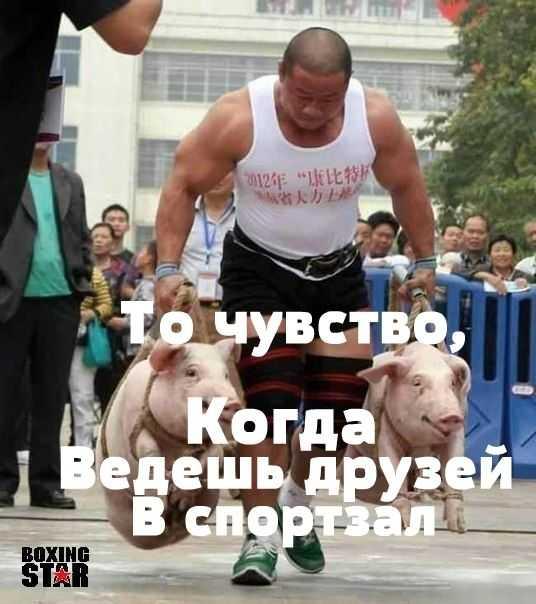 юморим_ веду друзей на фитнес