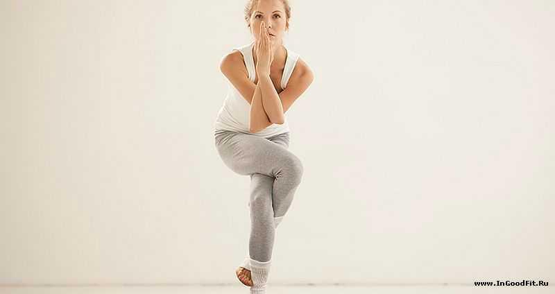 поза орла в йоге