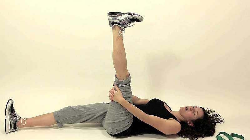 растяжка мышц ноги для начинающих