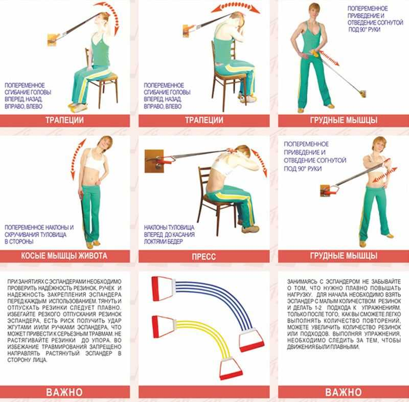 упражнения с эспандером для женщин и мужчин