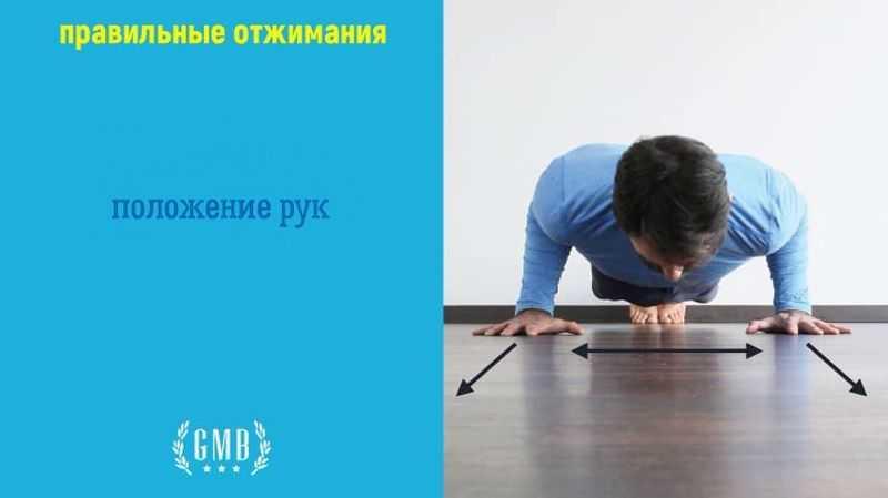 техника отжимания. положение рук
