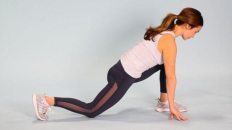 поза йоги низкий выпад
