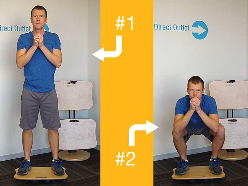 упражнения на баланс борде